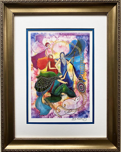 """Rothenberg """"Isaac's Blessing of Jacob"""" FRAMED Signed Art"""