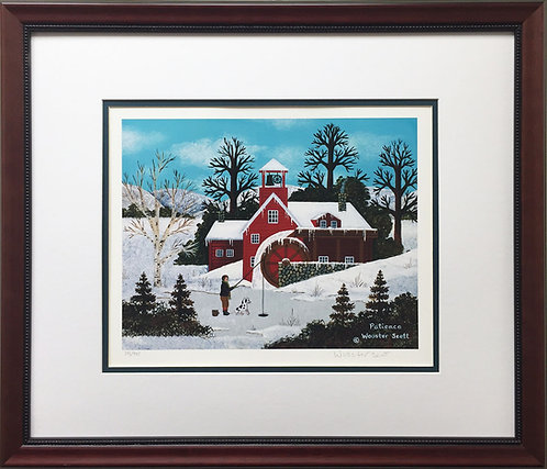 """Jane Wooster Scott """"Patience"""" Hand Signed CUSTOM FRAMED ART Limited Edition"""
