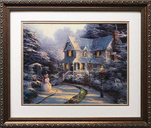 "Thomas Kinkade ""The Night before Christmas"" New CUSTOM FRAMED Art Print"