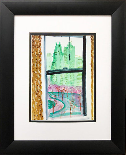 "David Hockney ""View From Mayflower Hotel ""NEWLY FRAMED Pop ART"