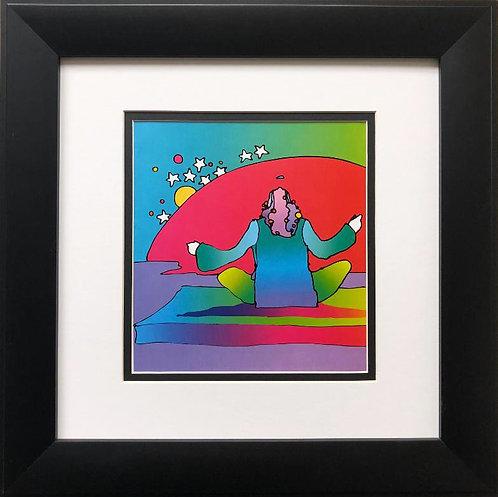 """Peter Max """"Swami Sunrise"""" Newly CUSTOM FRAMED Art"""