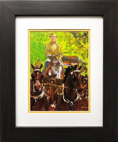 "Jamie Wyeth ""Frolic"" CUSTOM FRAMED Art"