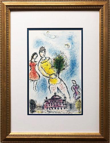 """Marc Chagall """"Dans Le Ciel De L'Opera"""" Newly CUSTOM FRAMED Rare Offset Lithograp"""