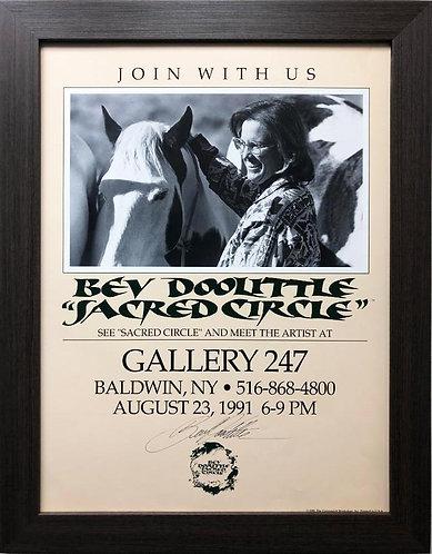 """Bev Doolittle """"Sacred Circle"""" Hand Signed FRAMED American Art"""