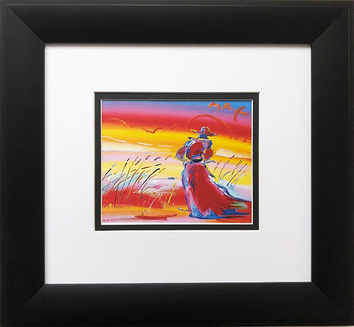 "Peter Max ""Monk in Reeds"" Newly CUSTOM FRAMED Print"
