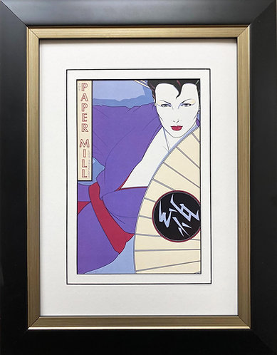 "Patrick Nagel ""The Paper Mill"" NEW CUSTOM FRAMED Art Deco Print"