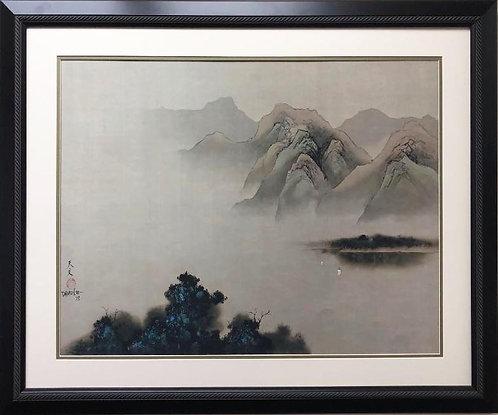 "David Lee ""Return Sail"" Custom Framed Asian Art"