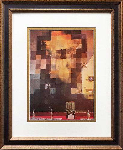 "Salvador Dali ""Abraham Lincoln"" CUSTOM FRAMED ART"