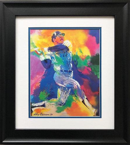 """LeRoy Neiman """"Reggie Jackson"""" FRAMED NEW ART"""