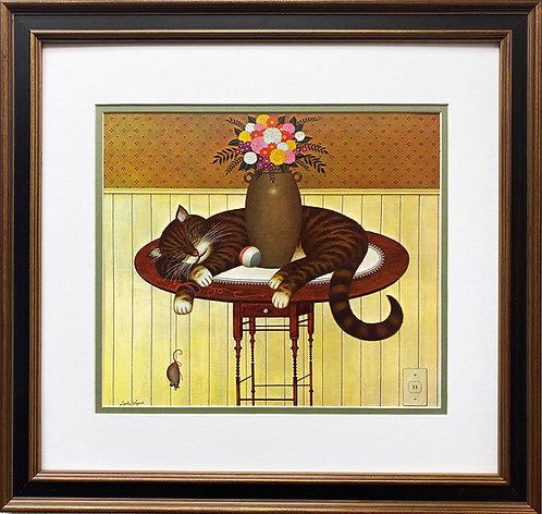 """Charles Wysocki """"Herkymer the Cat"""" New CUSTOM FRAMED Art"""