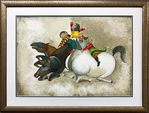 """Graciela Rodo Boulanger """"Trois Chevaux ( the 3 Horses)"""" Litho FRAMED ART"""