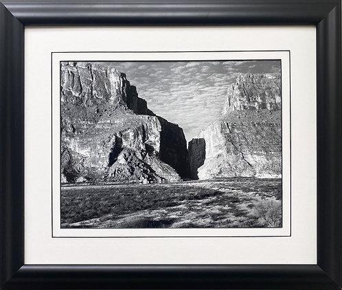 "Ansel Adams ""Santa Elena Canyon, Big Bend"" NEWLY Custom Framed ART"
