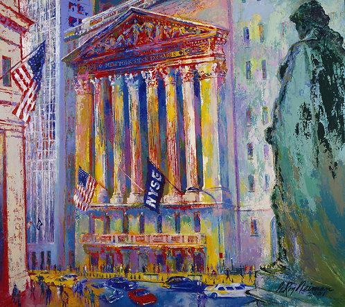 "Leroy Neiman ""New York Stock Exchange"" HAND SIGNED SERIGRAPH S/N NY Market NYSE"