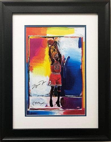 "Peter Max ""Michael Jordan"" CUSTOM FRAMED Print Art"