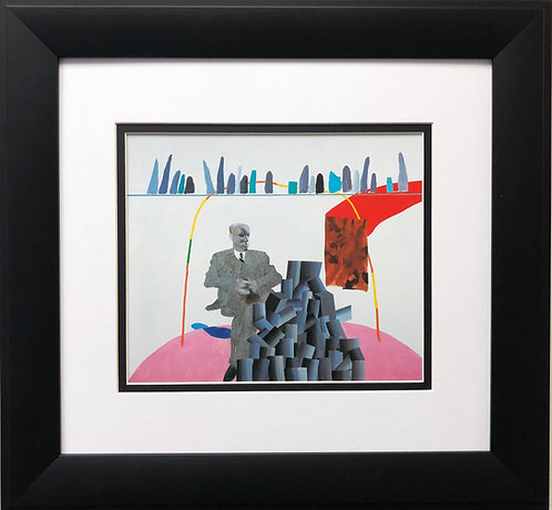 """David Hockney """"Portrait Surrounded by Artistic Devices"""""""