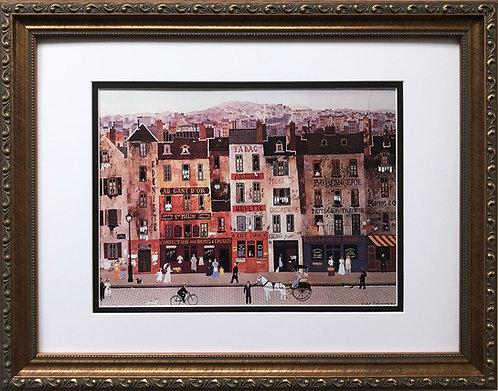 """Michel Delacroix """"Le Civette Parisienne""""  CUSTOM FRAMED Paris Street Tabac"""