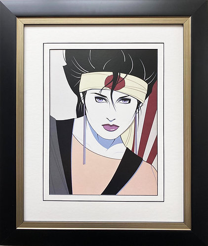 "Patrick Nagel ""Piedmont Graphics"" (detail) NEW CUSTOM FRAMED Art"