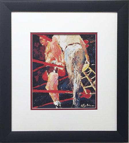 "LeRoy Neiman ""Last Bell for Joe Louis"" Newly CUSTOM FRAMED Art Print - Boxing"