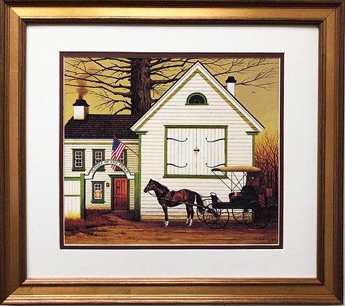 "Charles Wysocki ""Impatient Merger"" New CUSTOM FRAMED Art"