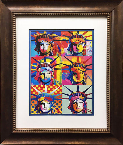 "Peter Max ""Liberty Heads I"" (1996)"