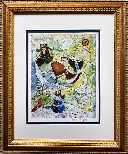 """Rothenberg """"Psalm of David"""" FRAMED Signed Art"""