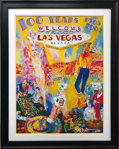 "LeRoy Neiman ""100 Years of Neon"" FRAMED New Art"