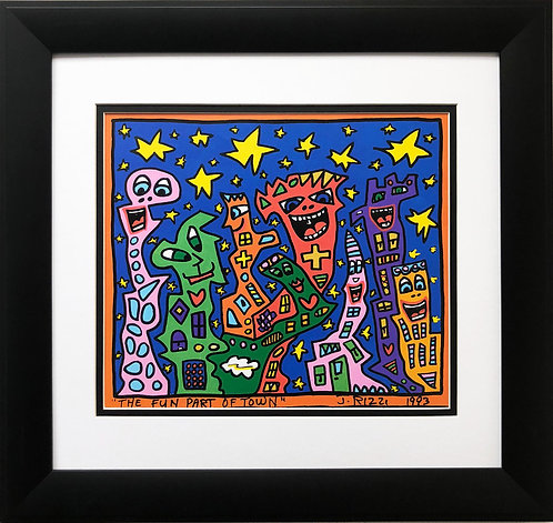"""James Rizzi """" The Fun Part of Town"""""""