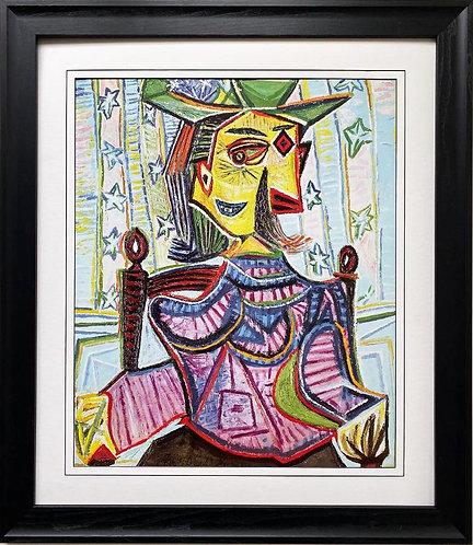 """Pablo Picasso """"Seated Portrait of Dora Maar"""" CUSTOM FRAMED Art"""