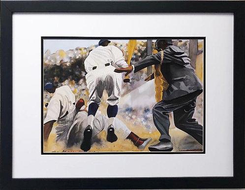 """Dane Tilghman """"Safe"""" CUSTOM FRAMED African American Art"""