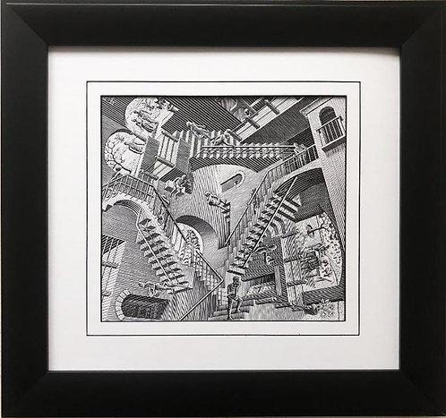 """M.C.Escher """"Relativity"""" '53 CUSTOM FRAMED Art"""