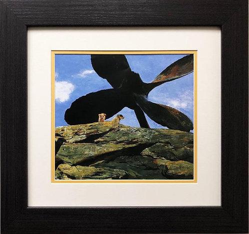 "Jamie Wyeth ""Wreck of the Polias"" CUSTOM FRAMED Art"