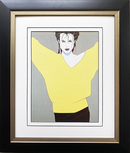 "Patrick Nagel ""Untitled #45"" NEW CUSTOM FRAMED Art Deco Print"