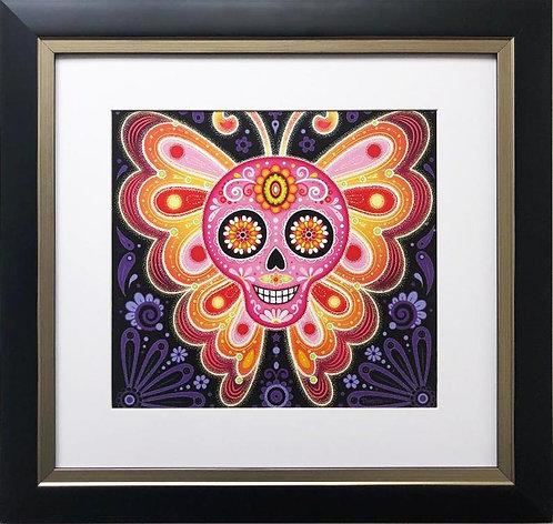 "Thaneeya McArdle ""Electrik"" Sugar Skull Framed Art"
