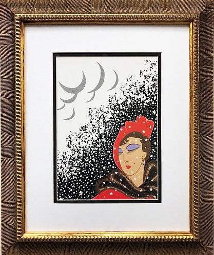"""Erte """"Winter """" CUSTOM FRAMED Print"""