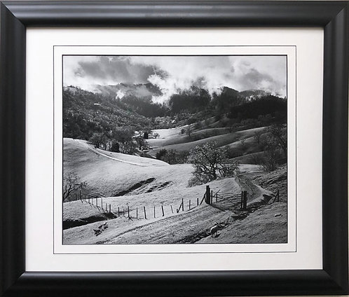 "Ansel Adams ""Pasture""  Sonoma Valley, California Custom Framed NEW ART farm"