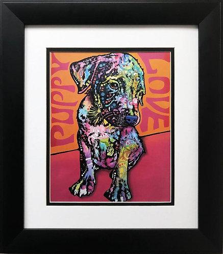 """Dean Russo """"Puppy Love"""" FRAMED Pop Art"""