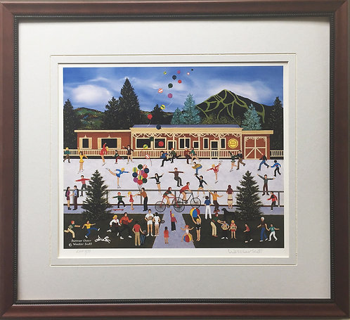 "Jane Wooster Scott ""Summer Cheer"" Newly CUSTOM FRAMED Hand Signed ART Print #'d"