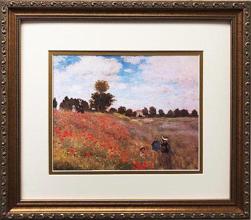 "Claude Monet ""Poppy Field"" FRAMED Art"