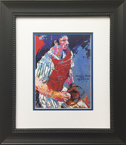 "LeRoy Neiman ""Thurman Munson"" NEWLY CUSTOM FRAMED ART Print NY YANKEES New York"