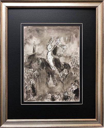 """Marc Chagall """"Le Roi David"""" Newly CUSTOM FRAMED Art"""