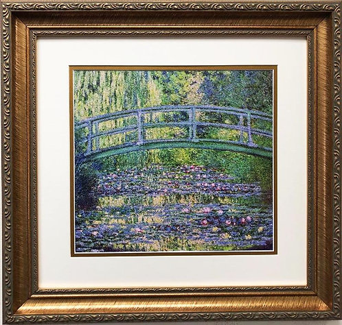 "Claude Monet ""Water Lily Pond & Japanese Bridge"" 1899 FRAMED ART"
