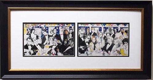 """LeRoy Neiman """"Spago, Oscar Night 1993"""" Newly CUSTOM FRAMED Print  Jack Nicholson"""