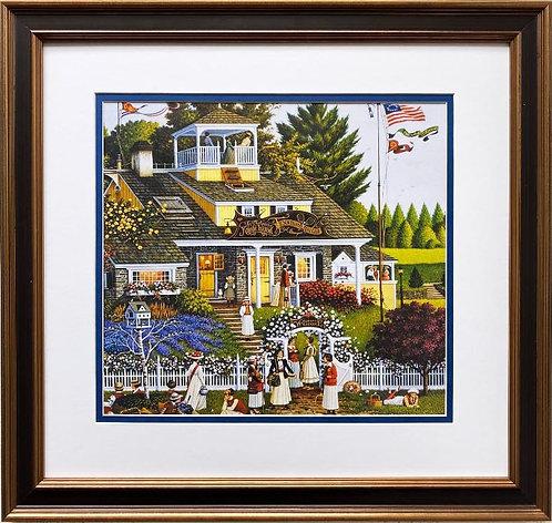 """Charles Wysocki """"Love"""" (detail) New CUSTOM FRAMED Art"""