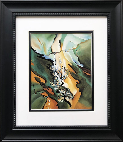 "Georgia O'Keeffe ""From the Lake No. 3"" American Art Print Custom Framed New"