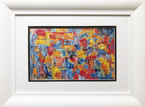 """Jasper Johns """"Map"""" FRAMED Iconic Pop Art"""