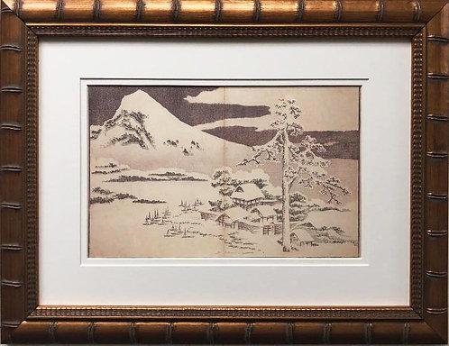 "Katsushika Hokusai ""A Realistic Sketchbook"" New Custom Framed Asian Art"