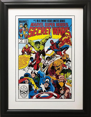 "Marvel ""Super Heroes Secret War"" #1 Framed Comic Book Poster"