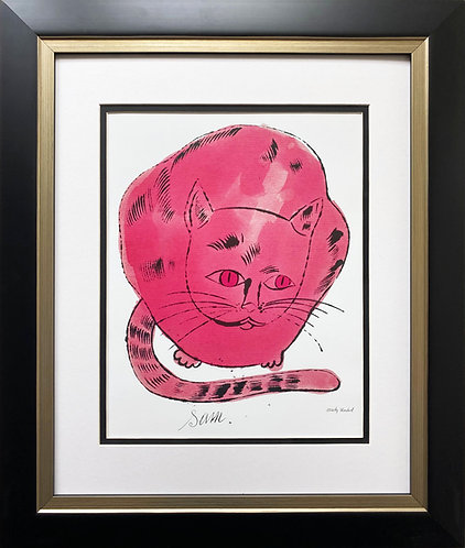 "Andy Warhol "" Hot Pink Sam "" CUSTOM FRAMED Pop Art"
