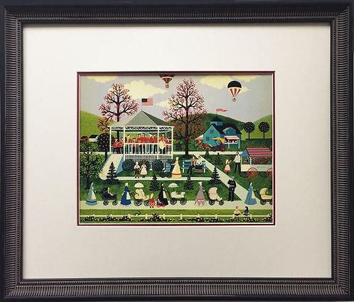 "Jane Wooster Scott ""Nannies on Parade"" Newly Custom FRAMED SERIGRAPH Art America"