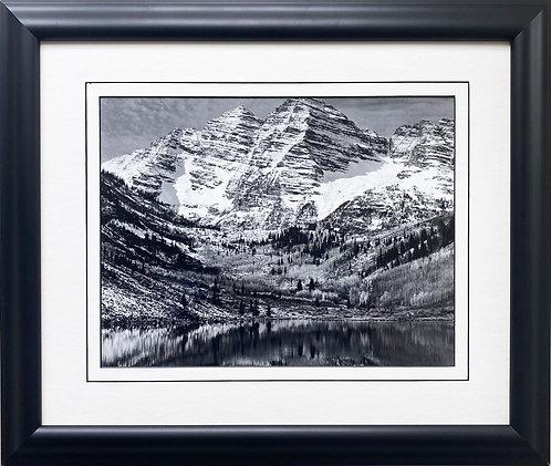 """Ansel Adams """"Maroon Bells, Near Aspen"""" NEWLY Custom Framed NEW ART"""
